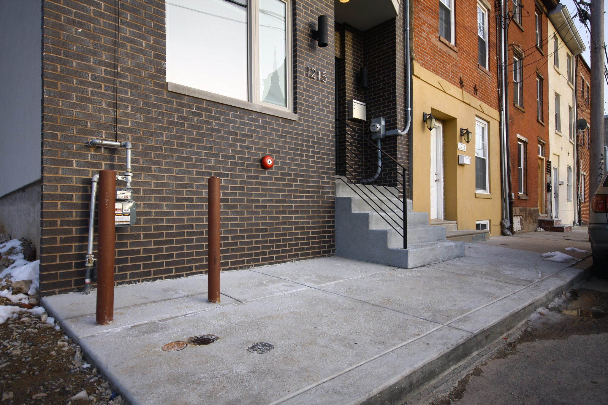 Brick and concrete work done by M&C Contractors in Philadelphia