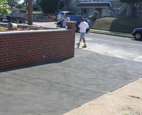 Concrete driveway in Philadelphia