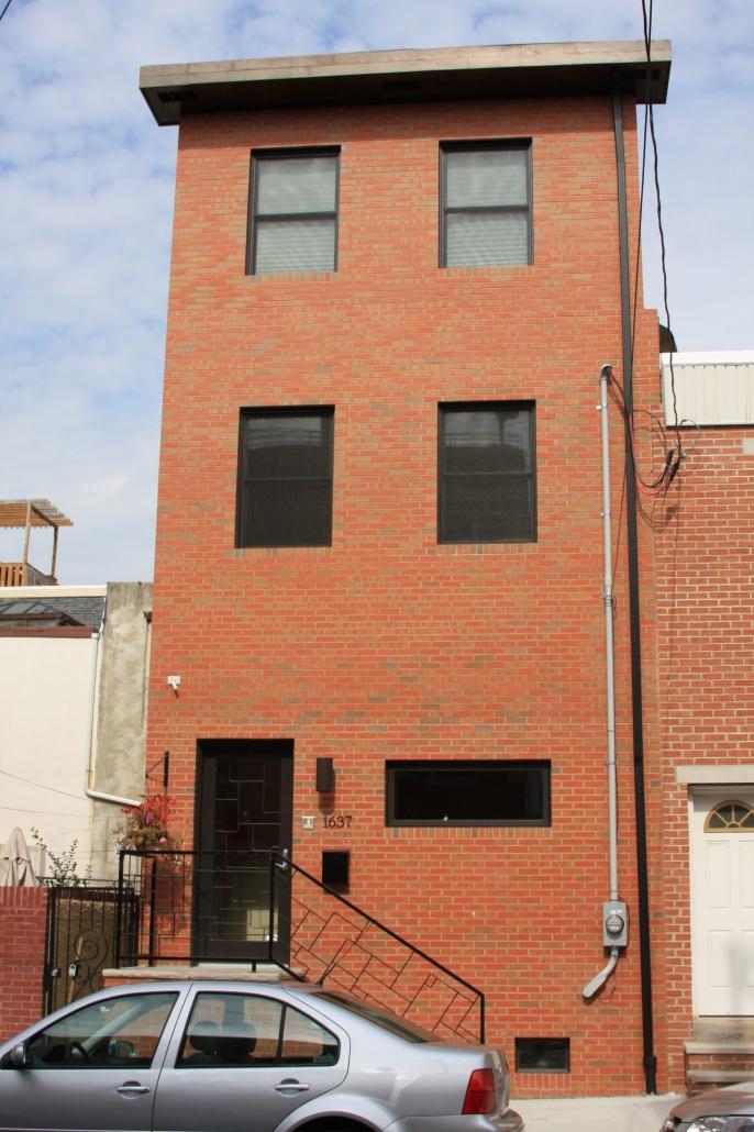 Custom brick front by M and C Contractors in Philadelphia