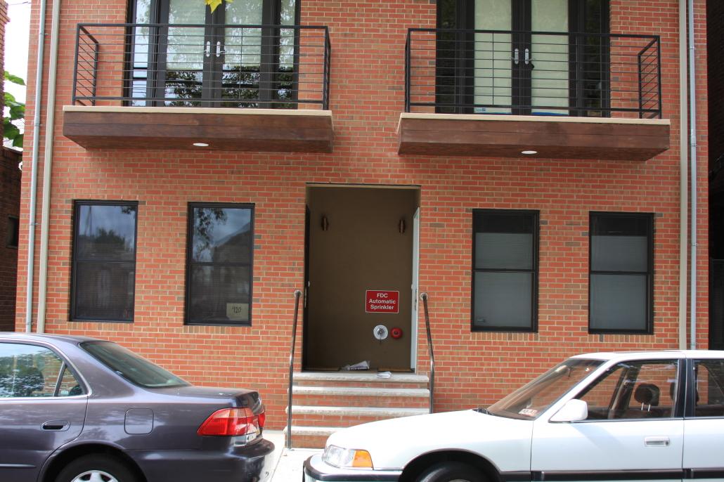 Brick facade in Philadelphia