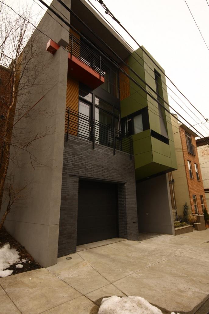 Brick & stucco finish on home in Philadelphia