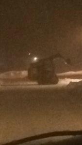 Skid steer removing snow in Philadelphia